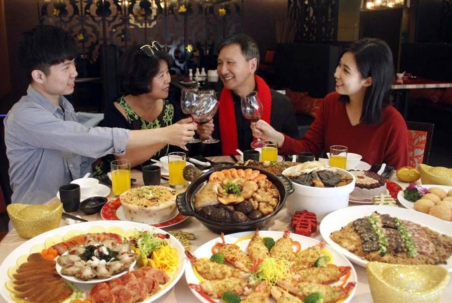 團圓宴旺季到來,大億麗緻酒店推出年菜佳餚。圖/大億酒店提供