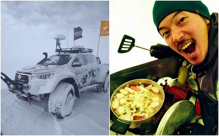 南極長征隊傳回捷報,宥勝獲得食材後為隊員們煮招牌海鮮湯。(橘子關懷基金會)