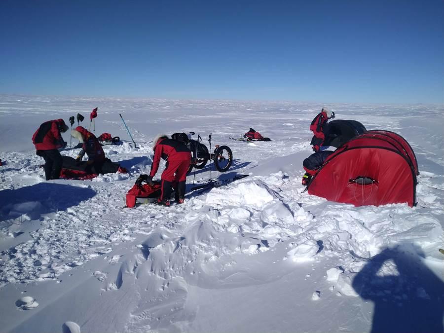南極長征隊挑戰進入倒數。(橘子關懷基金會)