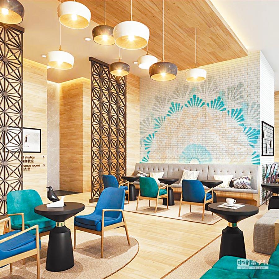 PURE YOGA位於上海PLAZA 66的瑜伽總部,裝潢華麗。(翻攝自PURE YOGA官網)