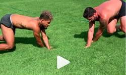 影》大聯盟球員古怪健身法 隊友笑噴:春訓來練啦