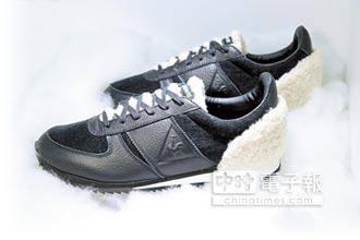 絨毛拼接皮革 運動鞋華麗暖心