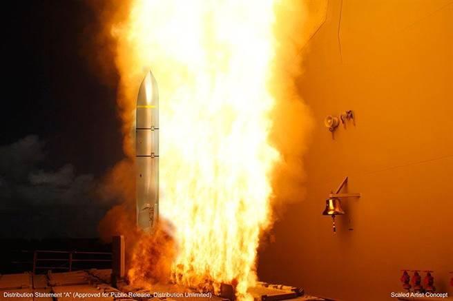 艦射型LRASM從導彈驅逐艦的MK-41導彈發射筒示意圖。(圖/洛馬公司)