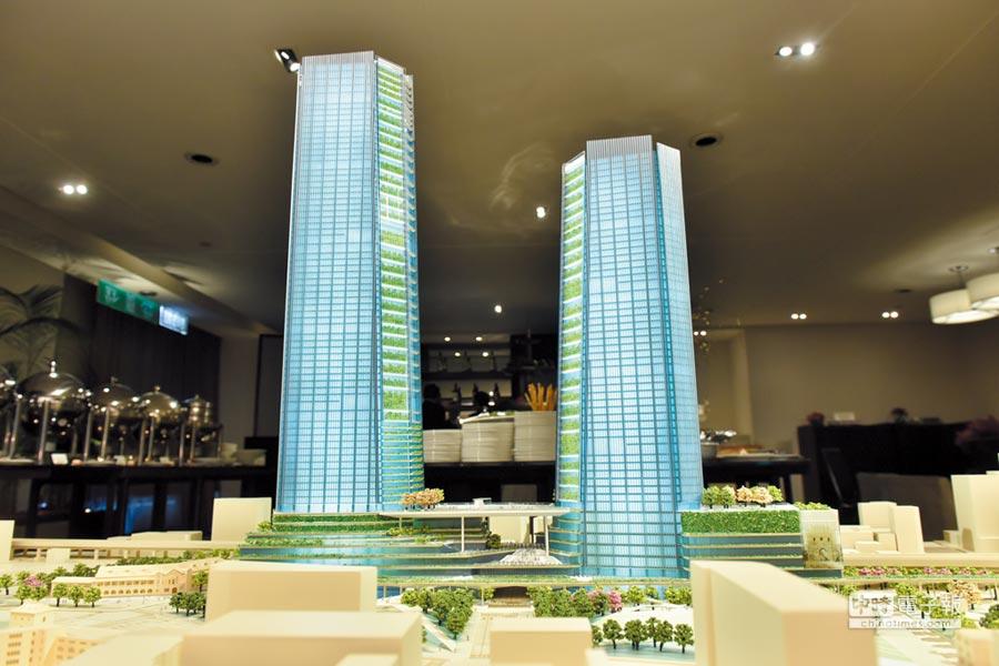 藍天電腦台北雙子星建築模型。圖/本報資料照片