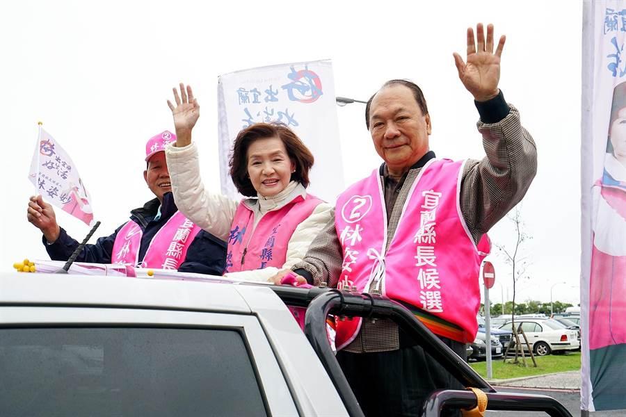 前立委林建榮(右)將擔任林姿妙(左)的副手。(本報資料照片)