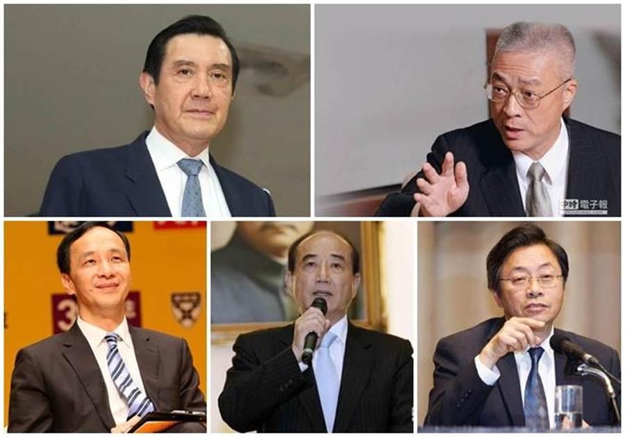 2020國民黨馬英九(左上)、吳敦義(右上)、朱立倫(左下)、王金平(下中)、張善政(右下),誰最「適合」參選總統?(本報系資料照片)