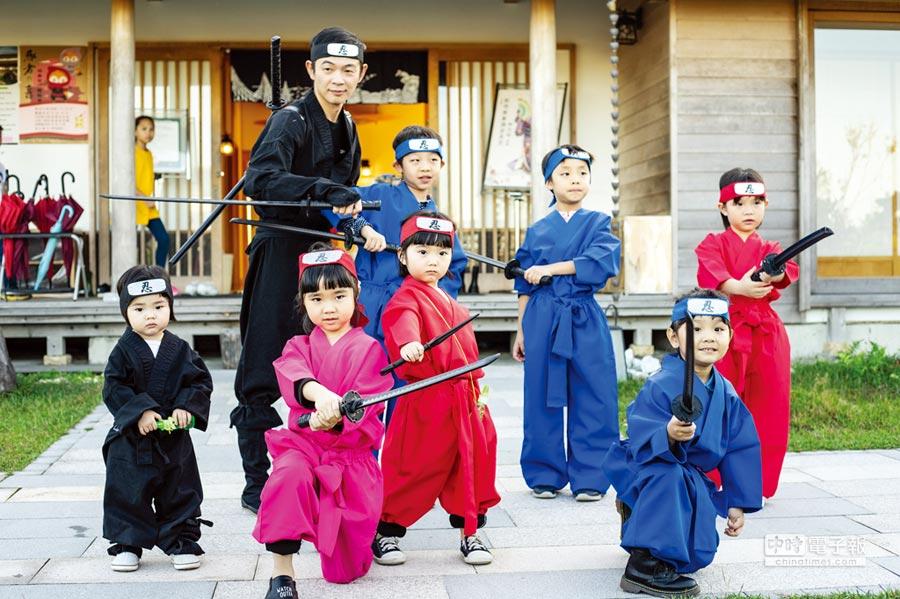參加綠舞觀光飯店推出的忍者體驗營,讓小朋友有個難忘的回憶。圖/業者提供