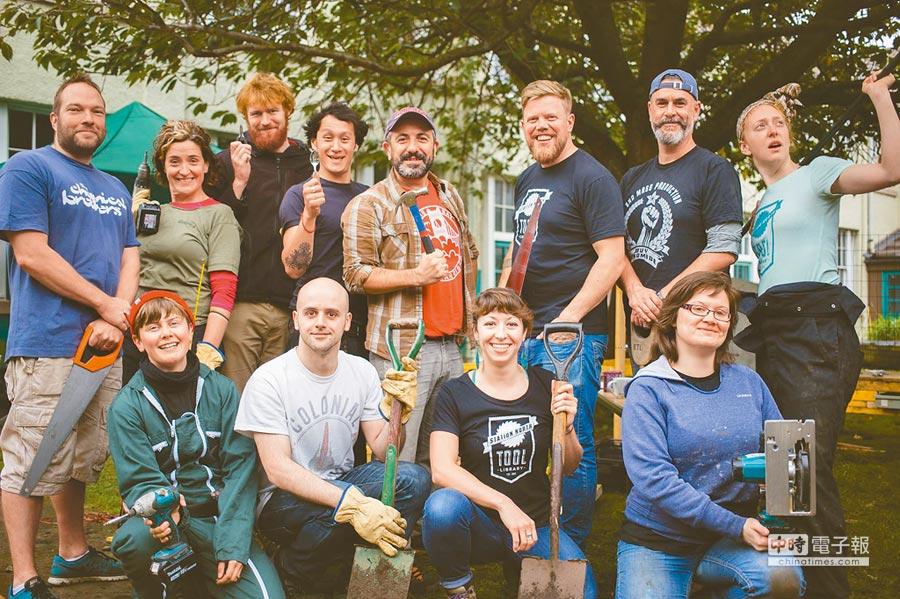愛丁堡工具圖書館成為連結社區的網絡。(摘自ETL FB)