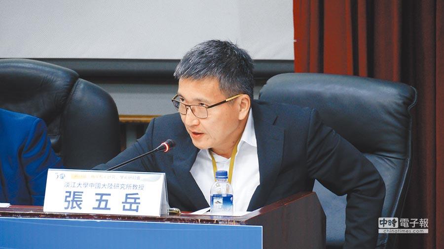淡江大學大陸研究所副教授張五岳。(記者潘維庭攝)