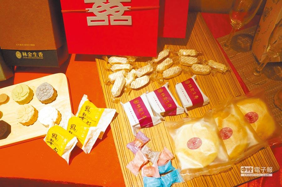 林金生香將中式漢餅結合在地食材。(記者林汪靜攝)