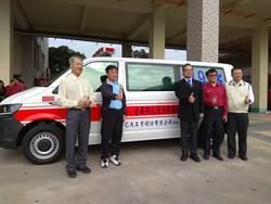 已久工業熱心公益 贈南科消防分隊救護車