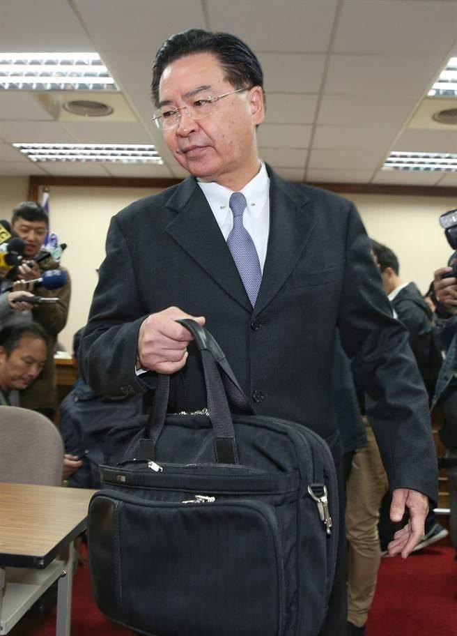 外交部長吳釗燮。(王英豪攝)