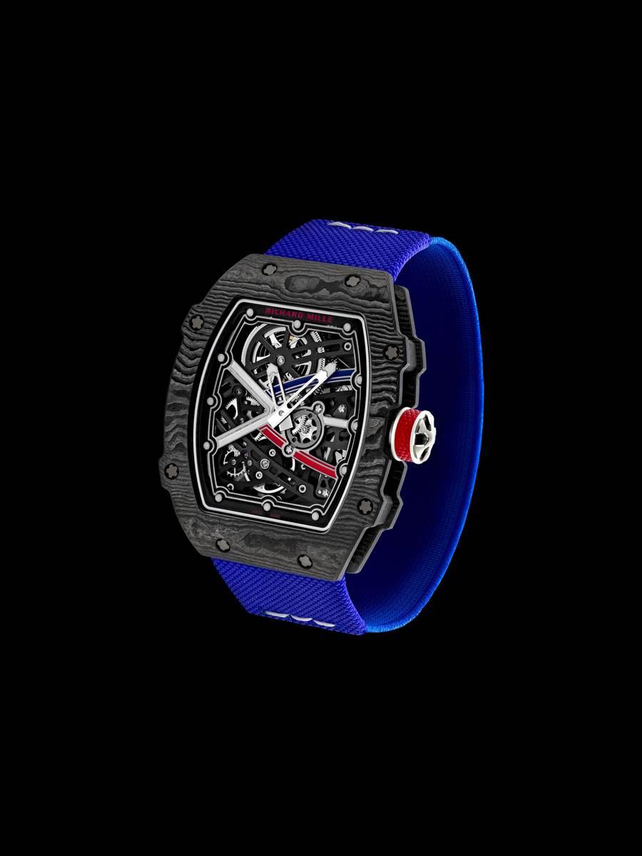 Richard Mille超輕量RM 67-02腕表,重量僅32公克。( Richard Mille提供)