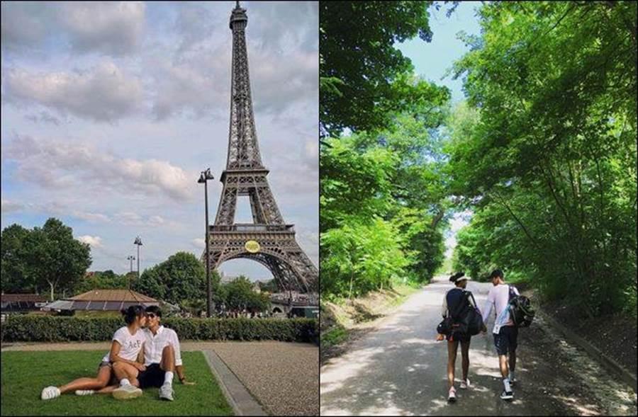 王薔早在今年7月就公開表示自己有男友,甚至曬出親密照。(圖/翻攝自微博)