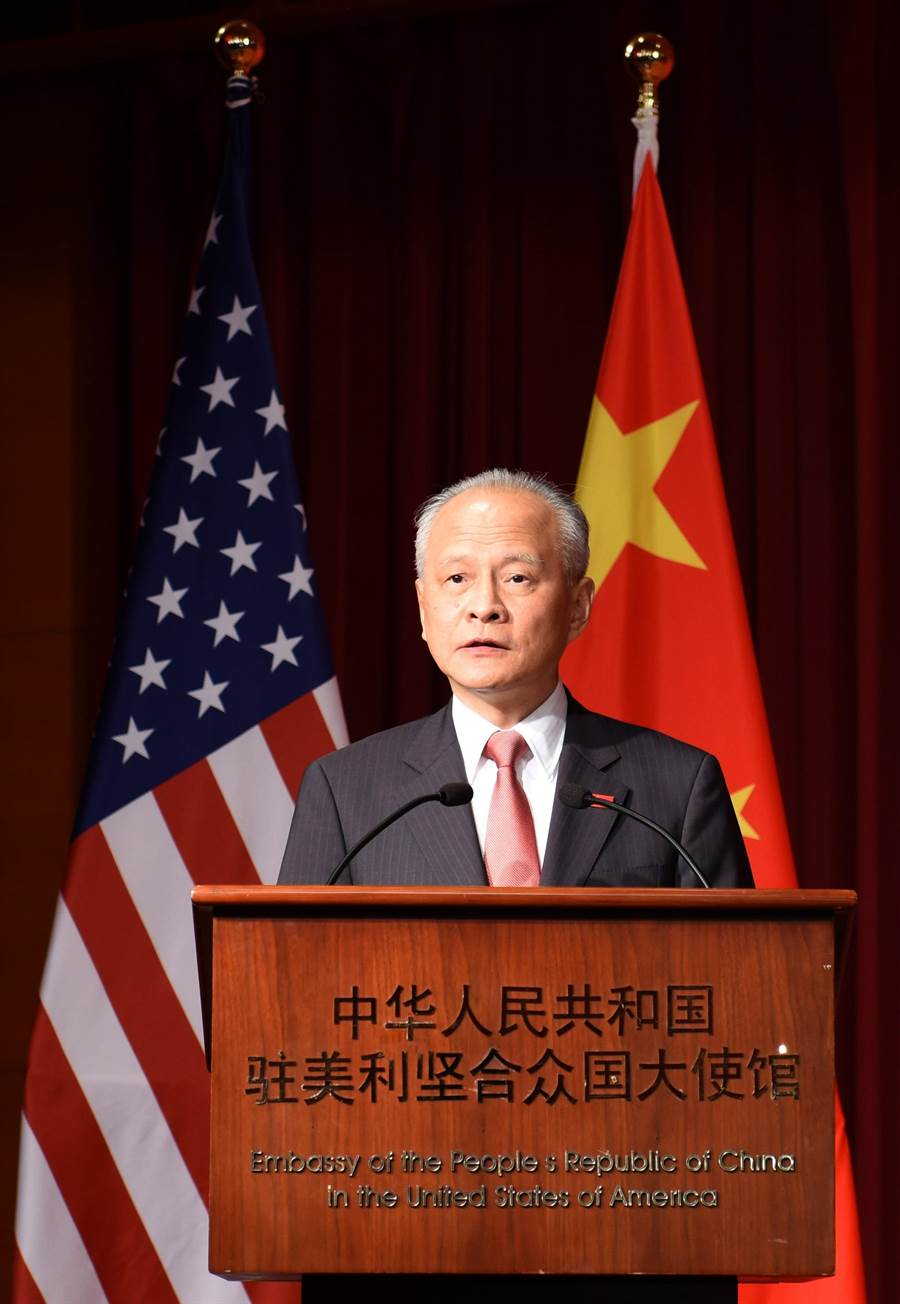 中國大陸駐美國大使崔天凱。(圖/中新社)