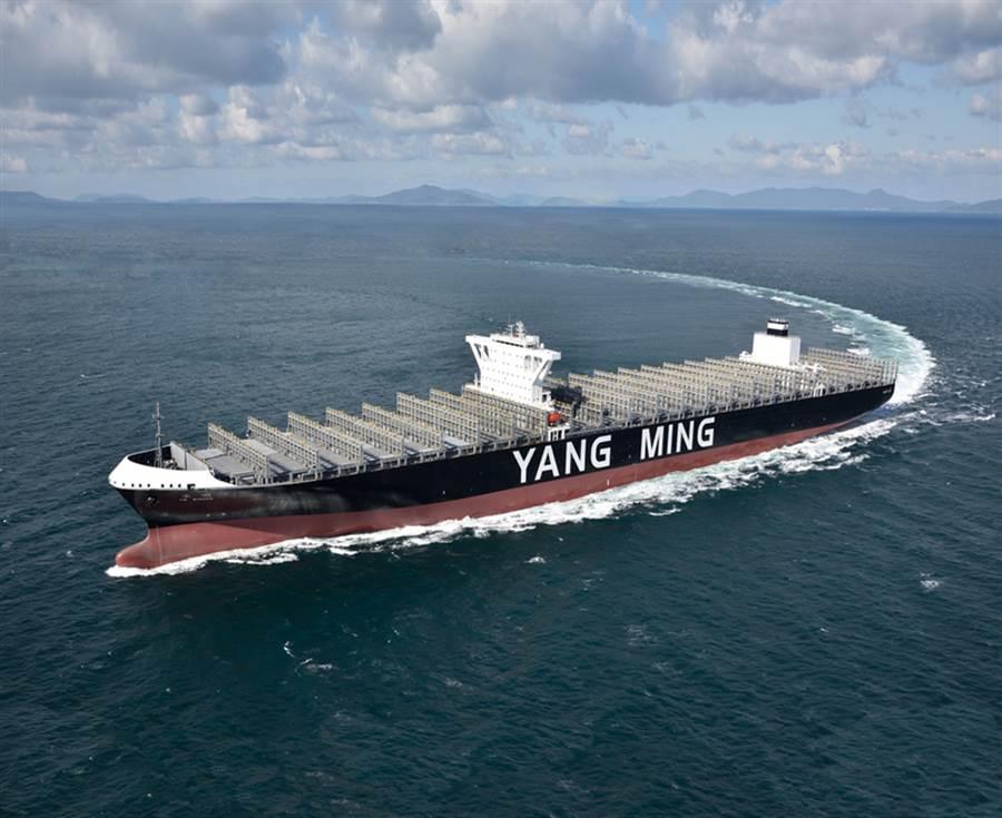 大船入港,須要引水人。圖為陽明海運貨櫃輪。(資料照片/陽明海運提供)