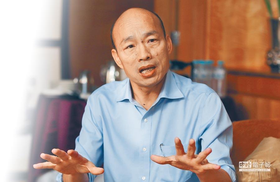 韓國瑜接受旺中專訪,表示就任後首要任務就是拚經濟。(本報系記者黃國峰攝)