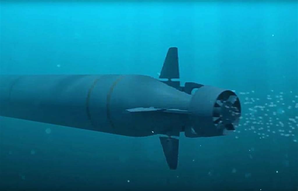 海神無人潛航器可搭載配備核彈頭的高速深水魚雷。圖為高速深水魚雷想像圖。(圖/塔斯社)
