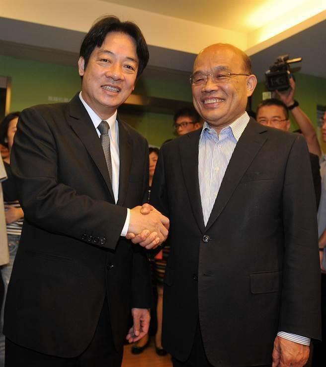 行政院長賴清德傳1月14日率內閣總辭,蘇貞昌接手出任行政院長。(資料照片)