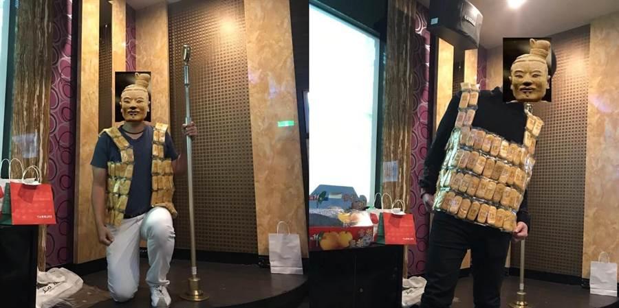 還有網友製作旺旺仙貝的背心 許多人都笑翻了(圖/翻攝自《爆廢公社》)