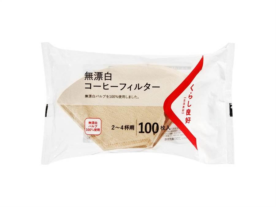 全聯「生活良好無漂白咖啡濾紙」,年銷10萬包,價格店洽。(全聯提供)