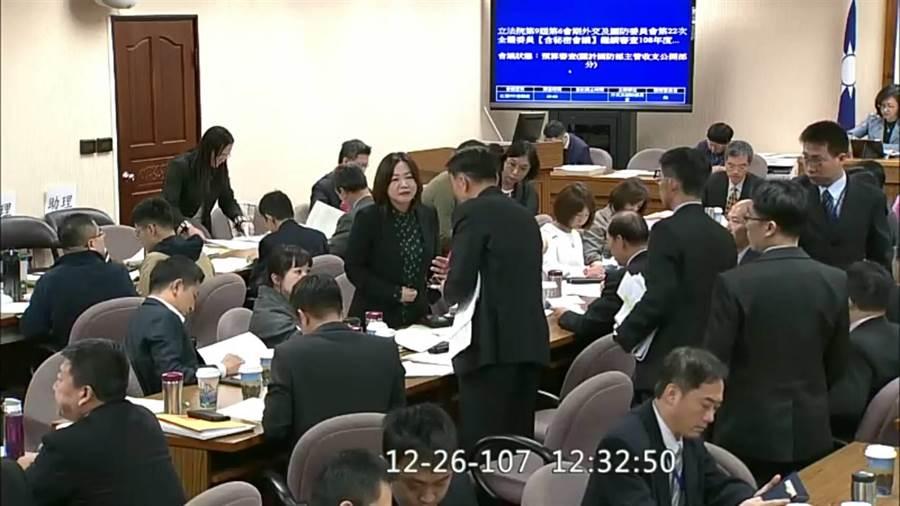 立法院上午審查國防預算。呂昭隆翻攝
