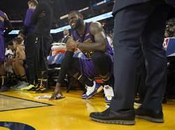 NBA》詹皇左腹股溝拉傷 連續116場出賽喊卡