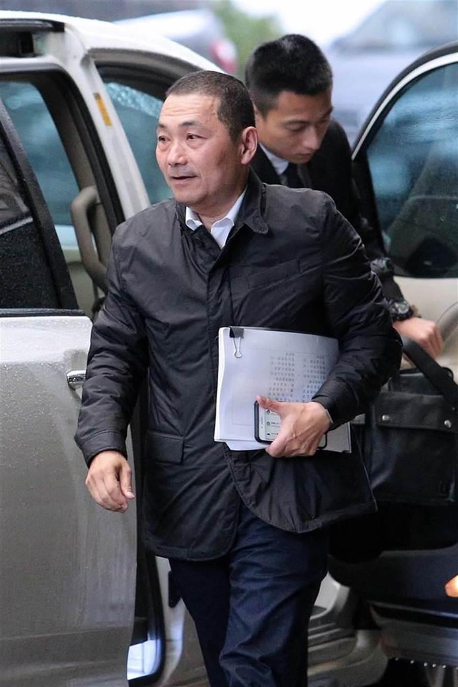 新北市長侯友宜27日首次出席行政院院會。(黃世麒攝)