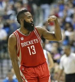 NBA》10戰408分 火箭哈登史上第一人