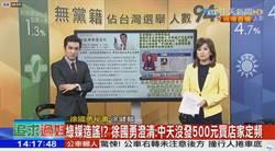 影》 抓到了!綠媒造謠!徐國勇秘書證實:中天沒發500元綁台