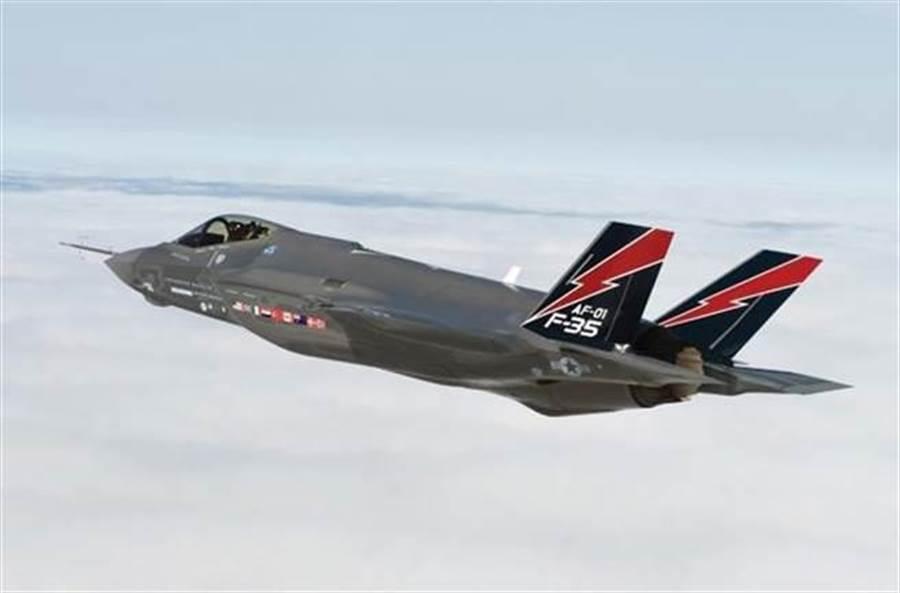 以色列F-35I「全能王」(Adir)戰機的資料照。(以色列空軍)