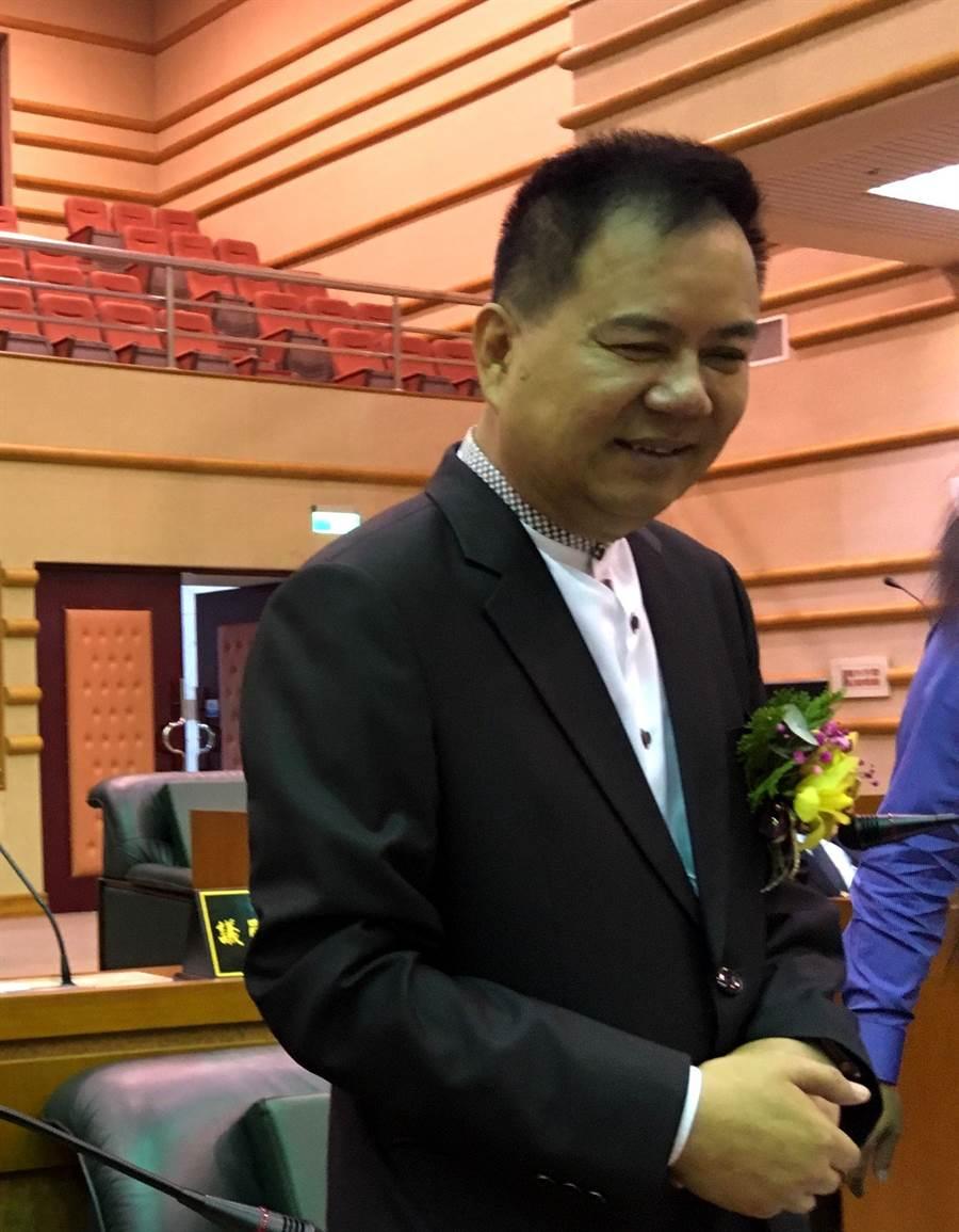 嘉義市議員郭明賓日前已宣誓就職。(廖素慧攝)