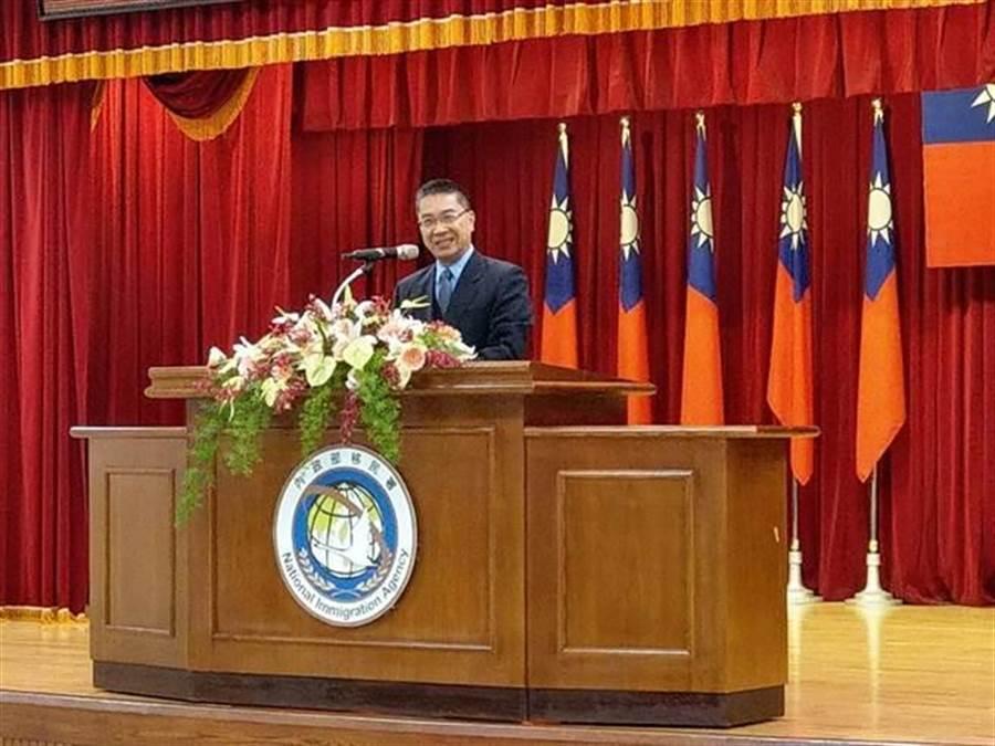 徐國勇表示邱豐光接任後,可有效加快查緝越南脫團事件。(陳鴻偉攝)