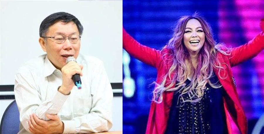 粉絲相當期待,跨年演唱會台北市長柯文哲能合體張惠妹同台飆歌。(圖/合成照片)