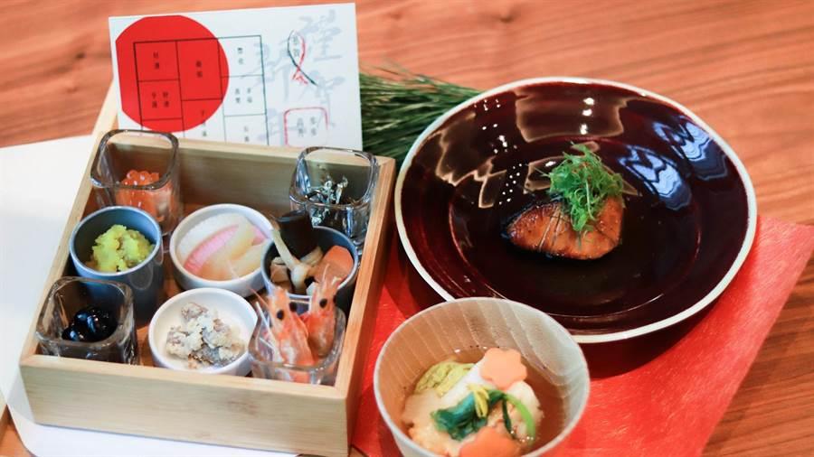 元旦推出「新年限定日式朝食」,為饕客祈求好運旺旺來。(圖片提供/高雄晶英國際行館)