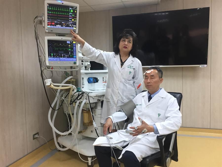 永康奇美醫學中心率先在24間手術室配置「麻醉深度監測儀(Entropy)與肌肉張力監測儀(OMT)」雙儀器,協助醫師精準調控麻醉深度,減緩麻醉不適及提高術後恢復品質。(曹婷婷攝)