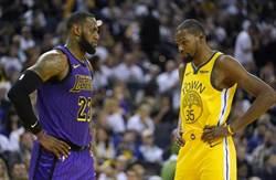NBA》勇士湖人被痛恨 皆是因KD和詹皇