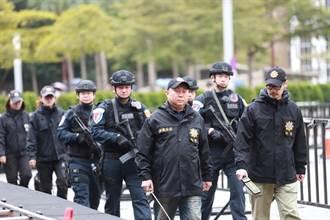 全副武裝滴水不漏!  北市逾千警力跨年夜維安