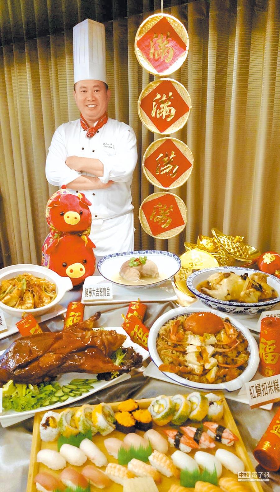 高雄翰品酒店年菜外帶有中、日式可選擇,享用年夜飯、美味多一點。圖/業者提供