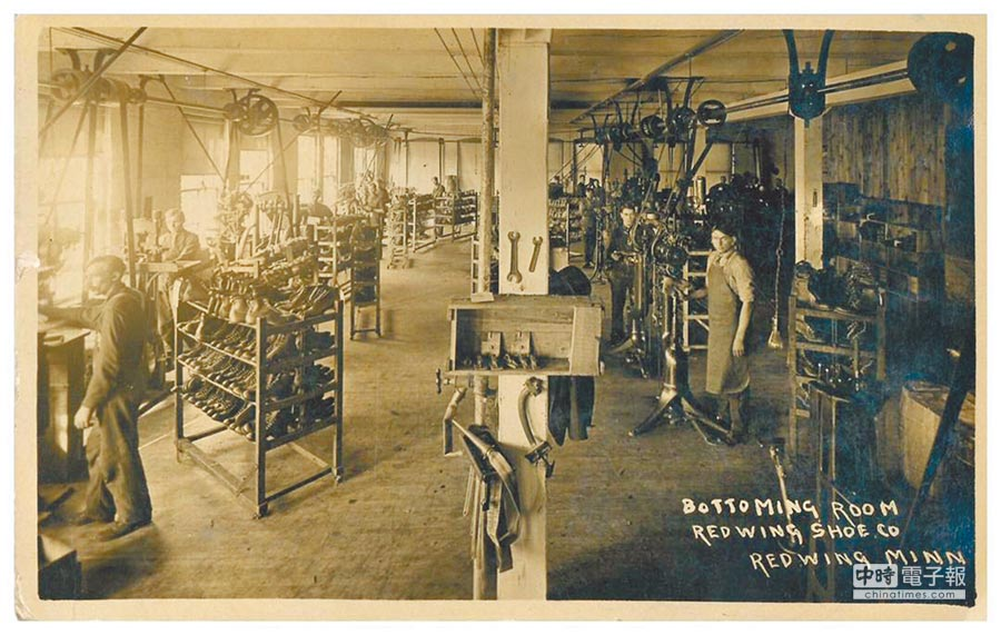 Red Wing於明尼蘇達州Red Wing鎮的鞋廠。圖片提供各品牌