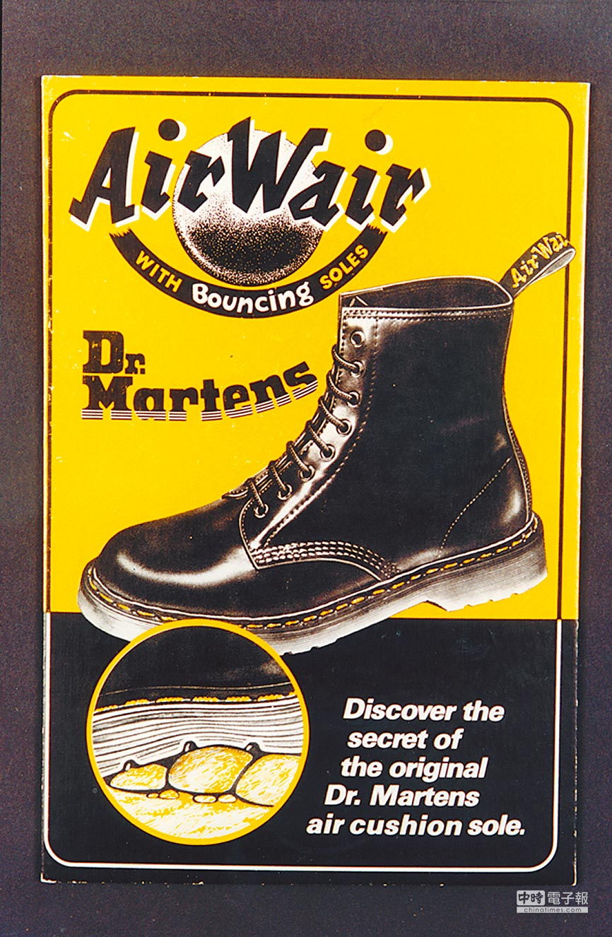 Dr. Martens舒適的祕訣在於「Air Wair」氣墊鞋底。圖片提供各品牌