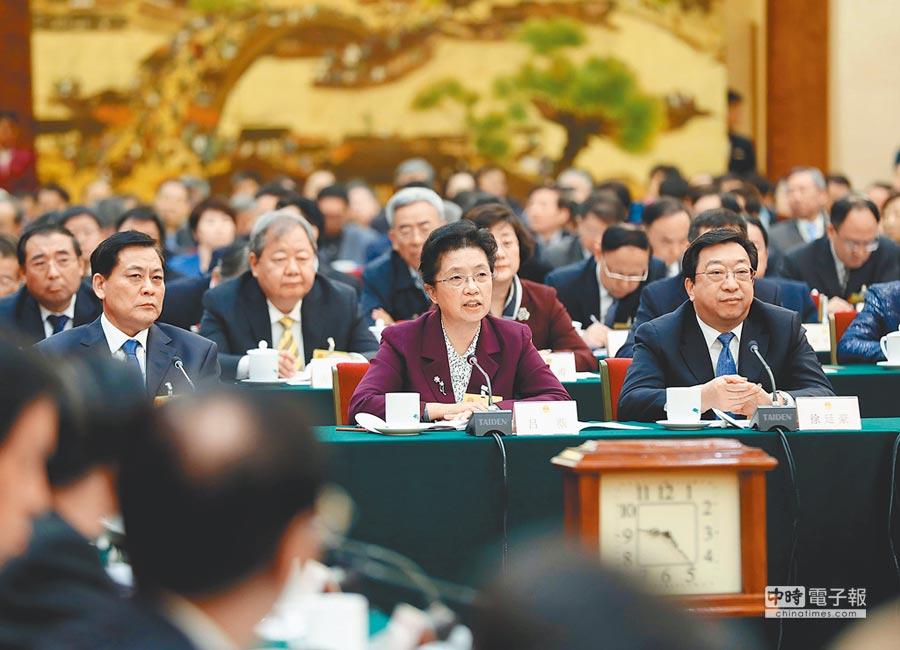 12月28日,十三屆全國人大常委會第七次會議舉行聯組會議,常委會委員開展專題詢問。(新華社)