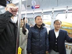 侯友宜視察公車站  期許明年電動公車達到10%