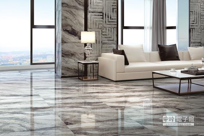 馬可貝里磁磚重視在磁磚紋理、觸感及美感上的設計表現,使居家用品的使用效果極大化。圖/業者提供