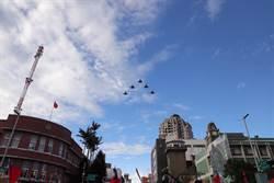 新竹市元旦升旗慶祝活動 幻象戰機衝場賀新年