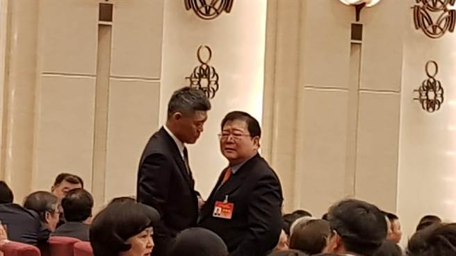 海協會副會長孫亞夫2日在《告台灣同胞書》發表40周年紀念會會場。(記者藍孝威攝)