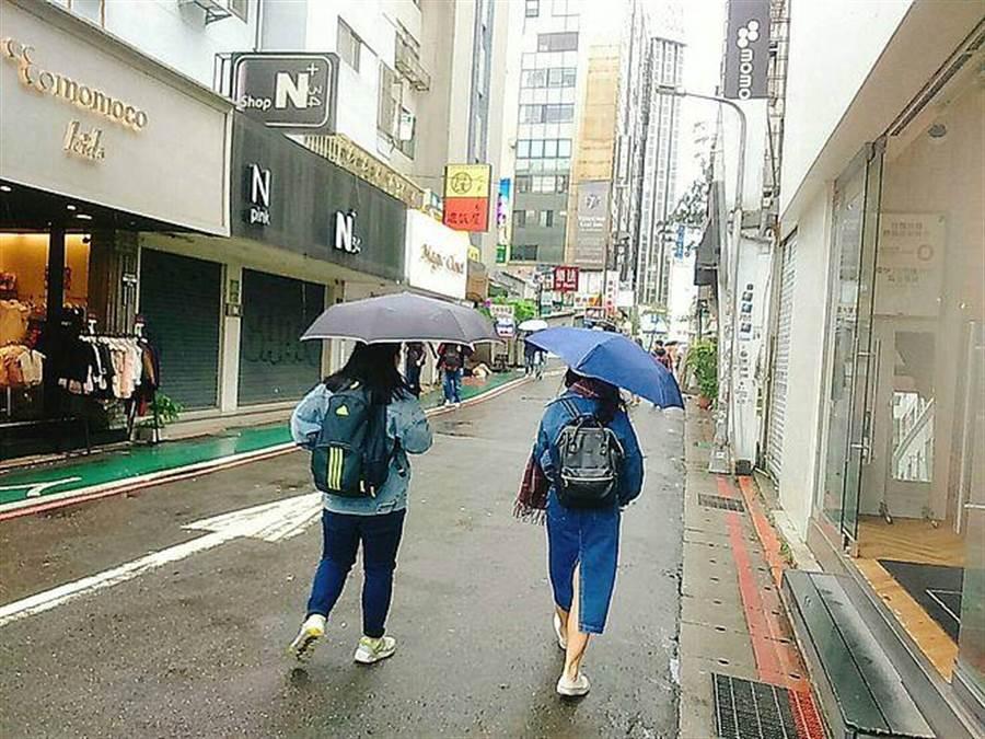 東北季風及南方雲系北移影響,今日依舊是濕涼有雨天氣,今早氣象局也針對北北基宜發布大雨(豪雨)特報。(林宜靜 攝)