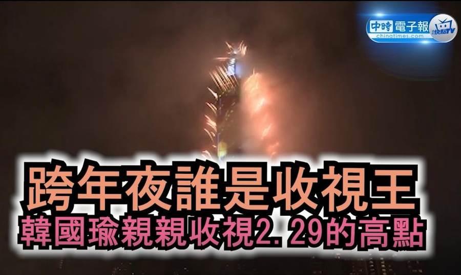 跨年夜誰是收視王?韓國瑜親親收視2.29的高點