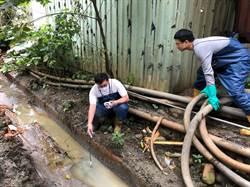 三峽河泡沫汙染 環保局逮獲非法土石場