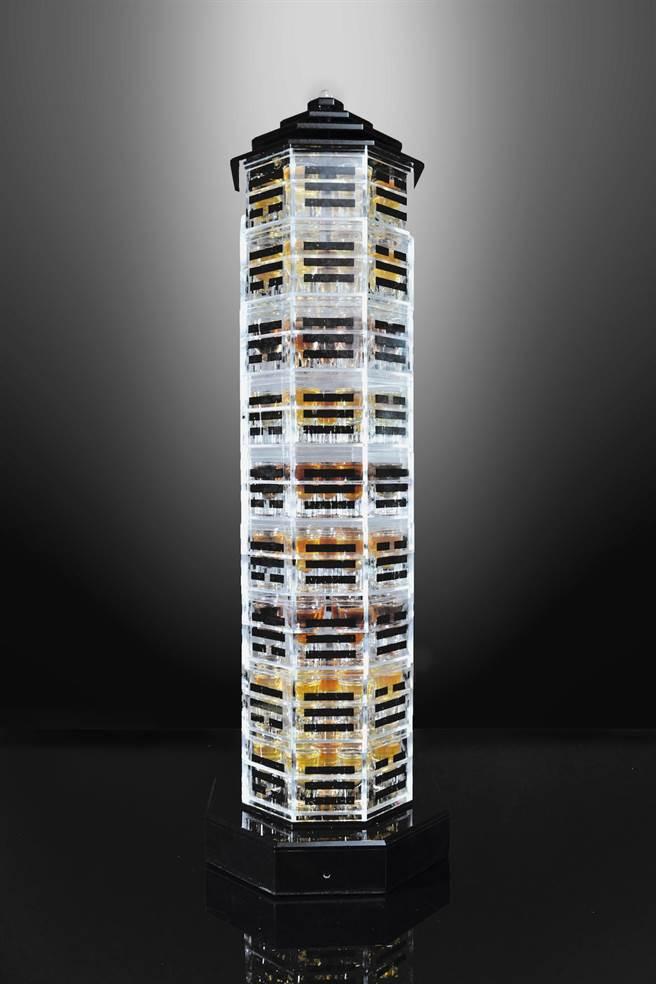 台南晶英酒店以《水滸傳》108條好漢為題材,設計出吸睛的「伏魔塔108 SHOT」,每組6000元+10%。(台南晶英酒店提供)